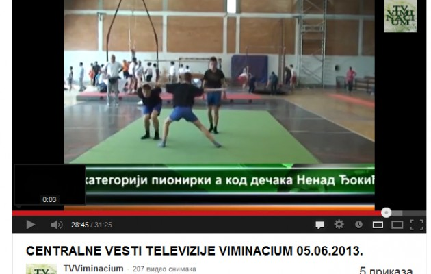 Prilog televizije Viminacium o održanom Državnom prvenstvu u sportskoj gimnastici